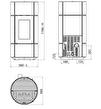 Pelletskamin ARCO BERG Air 2,3-8,1kW med täljsten