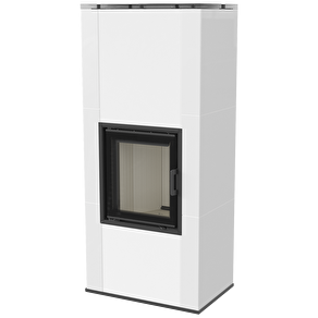 Kakelugn NADIA RYFEL 8 kW_ EXTERNLUFT_ KAKEL vit blank