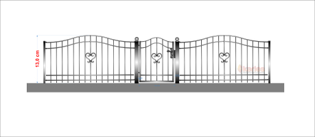 staket hjärta 2 utan spjuts