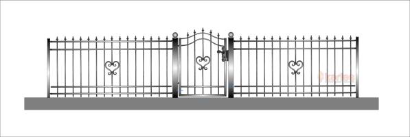 staket hjärta 2 rakt