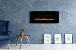 Modern LED vägg kamin MARIE med realistiska effekt av lågor