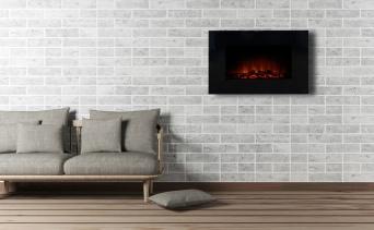 Modern LED väggkamin ETELA med en realistisk eldeffekt