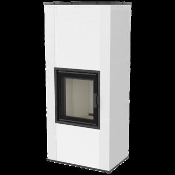 Kakelugn NADIA RYFEL 8 kW_ EXTERNLUFT_ vit blank