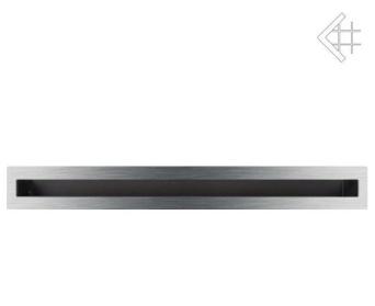GALLER-LUFT 60x600 mm silver-rostfri