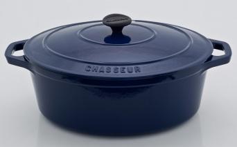 Chasseur gjutjärnsgryta  ___  5,6 liter _ MÖRKBLÅ