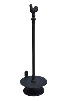 Gjutjärns hushållspappershållare TUPP- emaljerad svart