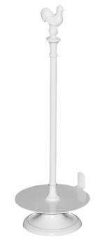 Gjutjärns hushållspappershållare TUPP- emaljerad vit