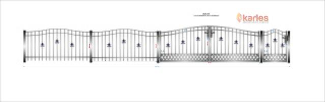 A11 Riddarhagen bilgrind + gg båge+ staket båge