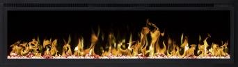 Elektrisk eldstad ROYAL 60 (152cm) med en realistisk eldeffekt + värmefunktion