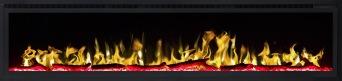 Elektrisk eldstad ROYAL 72 (182cm) med en realistisk eldeffekt + värmefunktion
