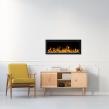 Elektrisk eldstad ROYAL 50 (126cm) med en realistisk eldeffekt + värmefunktion