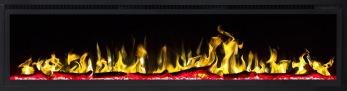 Elektrisk eldstad ROYAL 65 (165cm) med en realistisk eldeffekt + värmefunktion - ROYAL-65