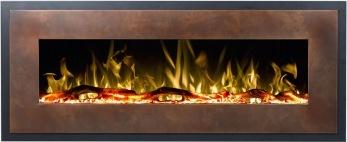 Elektrisk eldstad Mohave Bronze med en realistisk eldeffekt + värmefunktion - MOHAVE-B