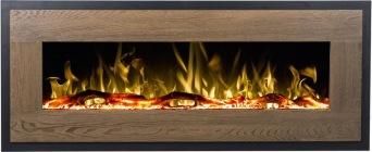 Elektrisk eldstad Mohave Wood med en realistisk eldeffekt + värmefunktion