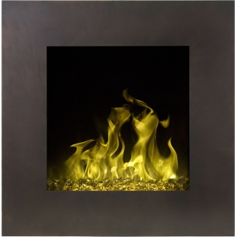 Elektrisk eldstad Fort Vintage Bronze med en realistisk eldeffekt + värmefunktion MED SIDOBELYSNING