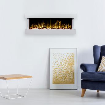 Elektrisk eldstad Modena med en realistisk eldeffekt + värmefunktion