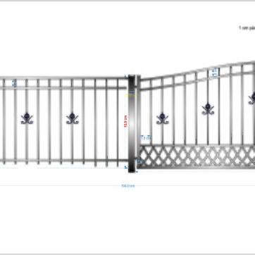 A11 Riddarhagen bilgrind + gg båge+ staket
