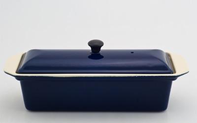 Chasseur gjutjärns UGNSFORM med lock ___ 1,0 liter_ MÖRKBLÅ -