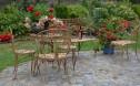 Dekorativ trädgårds fåtölj