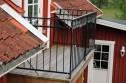 Utomhusräcke i massiva smide_ B8 _B8a_  balkonger, terrasser och altaner_ GARANTI.