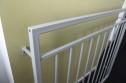 FRANSK BALKONG B6 _ varmförzinkat_ pulverlackat _  RAL 9006 White aluminium _ 110cm C/C