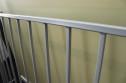 Fransk balkongräcke B6 _ varmförzinkat_ pulverlackat _ RAL 9006 White aluminium _ L.130cm