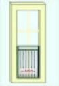 FRANSK BALKONG B12a_ L.110cm_ svart_ med fäste
