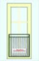 FYNDA! Fransk balkongräcke B6_ VARMFÖRZINKAD _ L.184cm C/C _ svart