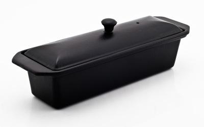 Chasseur gjutjärns UGNSFORM med lock ___ 1,2 liter_ SVART -