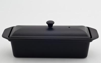 Chasseur gjutjärns UGNSFORM med lock ___ 1,0 liter_ SVART -
