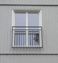Fransk balkongräcke B6_  VARMFÖRZINKAD_ PULVERLACKAT _ L.120cm C/C _ svart