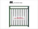 Fransk balkongräcke B6_  VARMFÖRZINKAD_ PULVERLACKAT _ L.110cm C/C _ svart