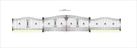 Håkan K. bilgrind A12 med staket båg + rosett