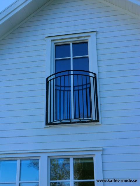 Fransk balkong halvmåneformat
