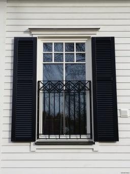 Fransk balkongräcke B16 _ VARMFÖRZINKAD_ PULVERLACKAT_ L.144cm C/C _svart