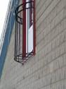 FRANSK BALKONG B6_ halvmåne format _ varmförzinkat _ valfri L.80-100cm_ valfri RAL färg