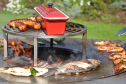 Trädgårdsspis & vedeldat grill Artiss G4 corten