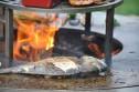 Trädgårdsspis & vedeldat grill Artiss G3 corten