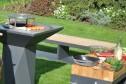 Trädgårdsspis & vedeldat grill Artiss G2 grafitgrå