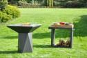 Trädgårdsspis & vedeldat grill Artiss G1 grafitgrå