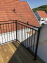 Utomhusräcke B6 i massiva smide för balkonger, terrasser och altaner med GARANTI
