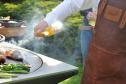 Utomhus eldstad_ trädgårdsspis_ vedeldat grill G4 - corten stål