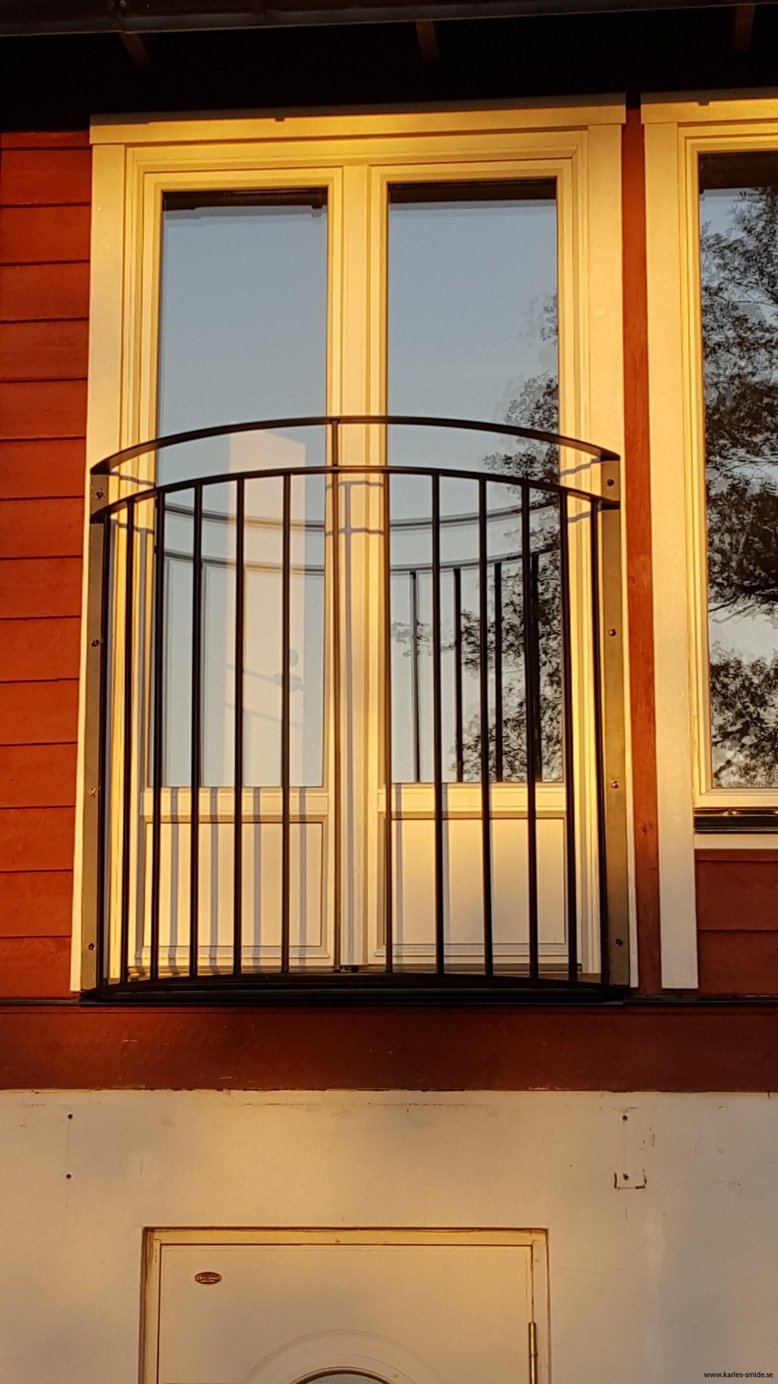 Fransk räcke;balkong;smide
