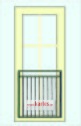 Fransk balkongräcke B6_ PULVERLACKAT _ L.107cm C/C _ svart