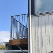 Vacker balkongräcke i smide Zigzak. karles smide (2)