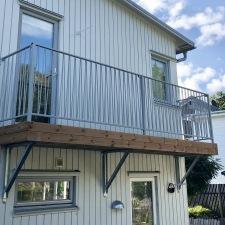 Vacker balkongräcke i smide Zigzak. karles smide (1)