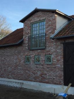 Fransk balkongräcke B6_  VARMFÖRZINKAD_ PULVERLACKAT _ L.130cm C/C _ svart