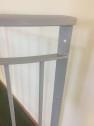 FRANSK BALKONG B6_ halvrund _ varmförzinkat _ valfri L.110cm_ SVART