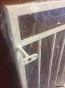 FRANSK BALKONG B6 _ varmförzinkat_ pulverlackat _  RAL 9006 White aluminium _ 100cm C/C