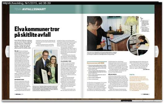"""NSR, projektet """"Länge leve prylen"""" & Simsalabim lyfts fram i tidningen Miljö & Utveckling"""